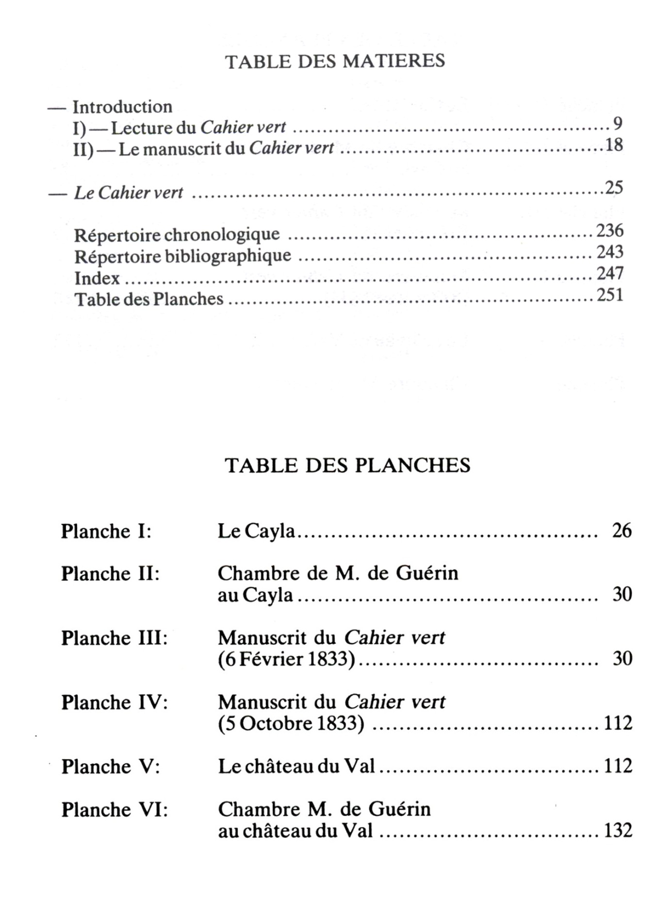 Cahier vert_Tables